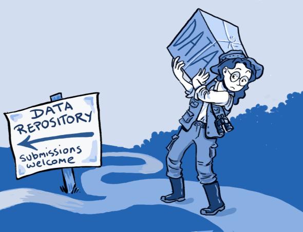 data cartoon